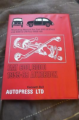 Autobooks  Fiat 600 / 600D Manual 1955 / 69 Vgc