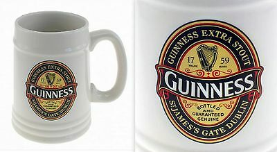 GUINNESS 2015 Limited Edition PINT Ceramic Tankard with Printed Label