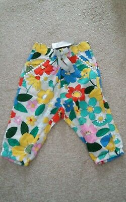 BNWT Next Baby Girls Cotton Floral Trousers Size 6-9 months
