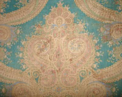 BEAUTIFUL BUT TIMEWORN FRAGMENT 19th CENTURY FRENCH COTTON, REF