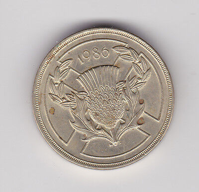 1986 Uk Scottish Commonwealth £2 Two Pounds Coin