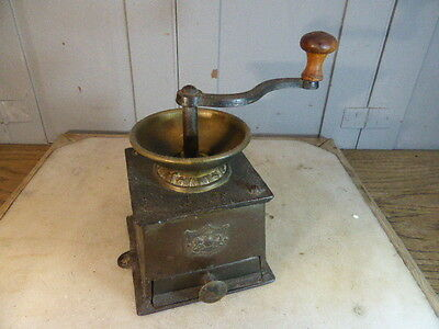 Antique cast iron coffee grinder by J&J Siddons