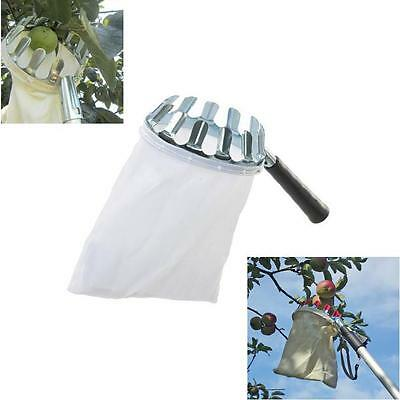 Fruit Picker With 13 Picking Teeth And Cotton Bag Harvesting Picking Apples
