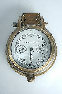 (E) Rare VIntage Thos. WALKER & Son Electric Ship's Log Chart House Receiver