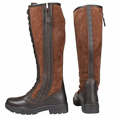 Ladies Horka Horse Riding Country Boots  Winter Leather Suede Laced Boots UK 6