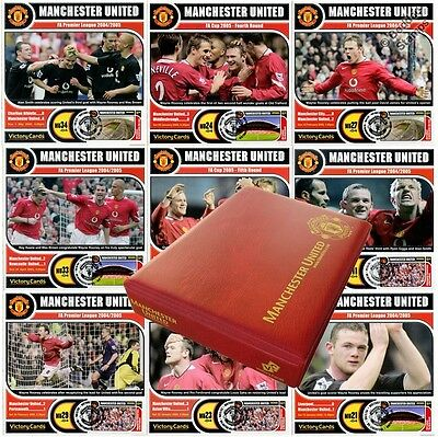 WAYNE ROONEY Manchester United (Man Utd) Football Club Victory Card Stamp Album
