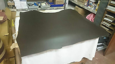 """DARK BROWN - 52.2"""" LONG X 41.5"""" WIDE & 2mm + PLUS THICK LEATHER LARP CRAFT"""