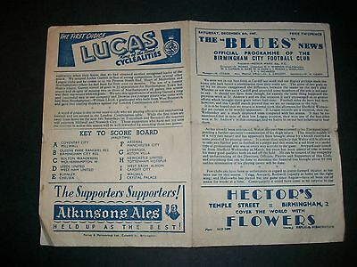 BIRMINGHAM CITY  v SHEFFIELD WEDNESDAY League   1947/8