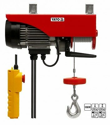 Electric Winch Rope Cable pull Hoist Elektrowinde 1050 W 300 / 600 Kg 0,6 t
