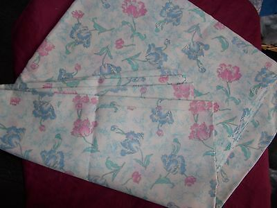Blue & Pink Floral  Cotton  Fabric -  1 1/2 Metres