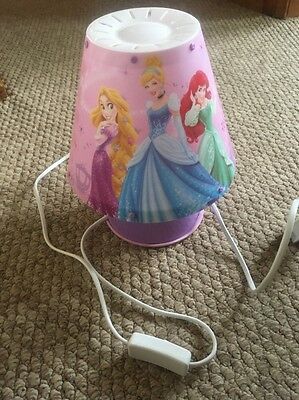 Disney Princess Bedside Lamp And Matching Ceiling Light