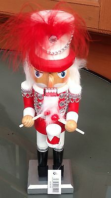 LOVELY NEW NUTCRACKER/SOLDIER/KING HANDPAINTED/JEWELLED, XMAS, WITH DRUM 11inch