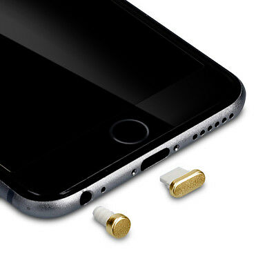 kwmobile DUST PROTECTION SET FOR APPLE IPHONE 6 6 PLUS GOLD PLUG PIN PEG PORT