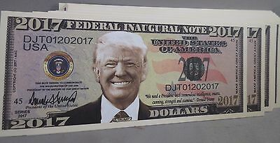 Wholesale Lot Of 100 Donald Trump President 2017 Inaugural Money Inauguration Us