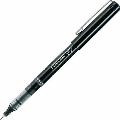 12 PILOT PRECISE V7 Black 0.7 mm ROLLER BALL PENS