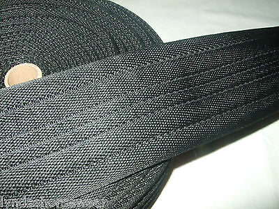 75mm wide x 1m  Polyester Padded Cushion Web For Horse Girths, Black Brown White