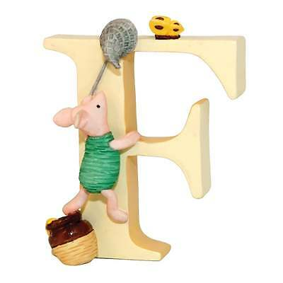 Classic Winnie The Pooh Alphabet Letter F Piglet Catching Butterfly New A6621