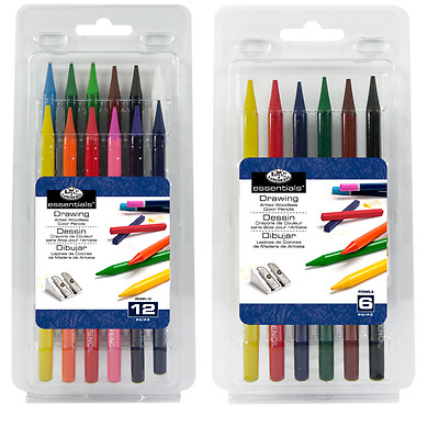 Artist Woodless Solid Colour Pencils Colouring Drawing Sketching Packs 6 or 12