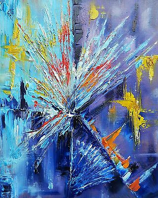 Original Modern Abstract Oil Painting on Canvas Abstract Art