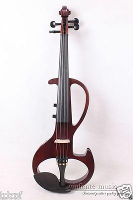 New Electric Viola 4 string Silent Solid Wood Body Powerful Sound red 16''