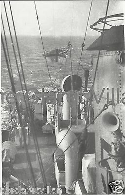 HMS Ardrossan - Bangor-class minesweeper 1946 - PA Vicary Real Photo from bridge