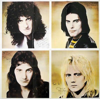 Queen Repro 1976 A Day At The Races Signed Autographed Poster . Freddie Mercury