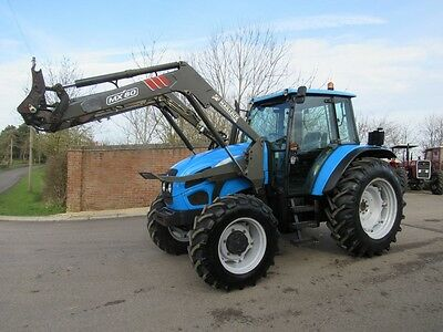 Landini Vision 95 Tractor Fitted With Mailleux Mx80 2006 Loader Low Hours