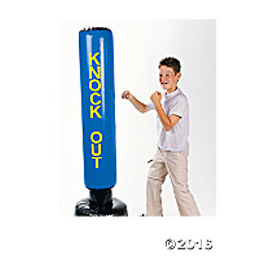 """Inflatable Punching Bag 10 1/2"""" x 5 ft FREE U.S. Priority Ship NEW"""