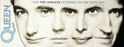 Queen Repro 1989 The Miracle Promo Poster . Freddie Mercury