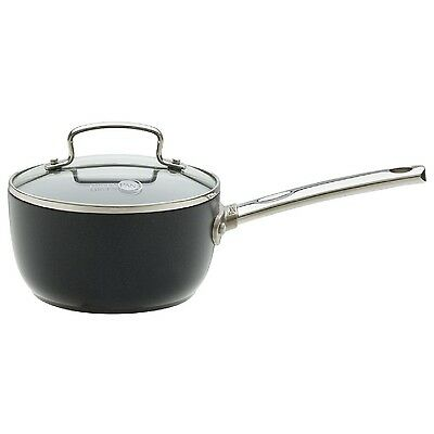 Greenpan 16Cm Non-Stick Saucepan With Glass Lid Cookware Kitchenware Sauce Pan