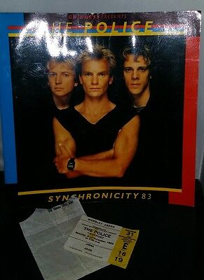 Guinness Presents The Police Synchronicity Tour '83 New Years Eve Ticket Stub