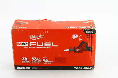New! Milwaukee – 2520-20 M12 Fuel Hackzall Reciprocating Saw W/ 4.0Ah Xc Battery