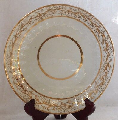 C19Th Staffordshire Fluted And Gilded Dish