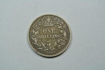 Great Britain 1864 1 Shilling, Die #68, VF Condition - C2843