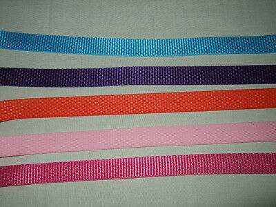 TWO Metres 19mm Weave Polypropylene Webbing/Strapping, For Dog Collars