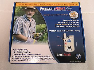 Freedom Alert System 35511 LogicMark No Activation Fees,No Monthly Fees - New