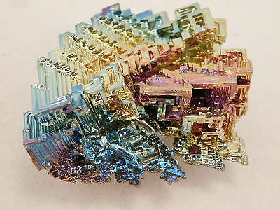 A Larger! Pink Blue and Gold BISMUTH Crystal From Germany! 164gr