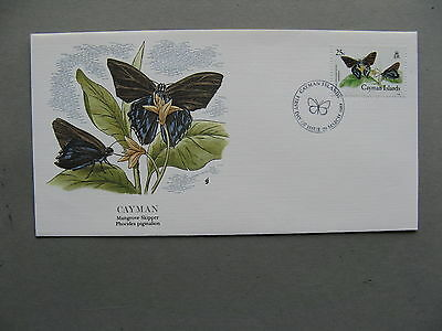 CAYMAN ISLANDS, cover Audubon society  FDC 1988, insect butterfly 25 c