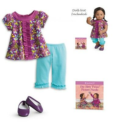 """American Girl BT BITTY TWIN BUTTERFLY TUNIC OUTFIT for 15"""" Baby Dolls Dress NEW"""