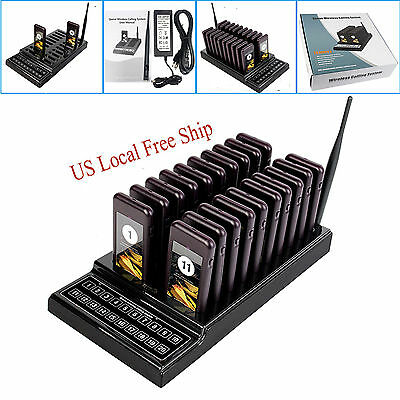 US 20 Restaurant Coaster Pager SU-68  Guest Call Wireless Paging Queuing System