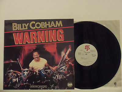 BILLY COBHAM disco LP 33 giri  WARNING made in GERMANY 1985 GRP + innersleeve
