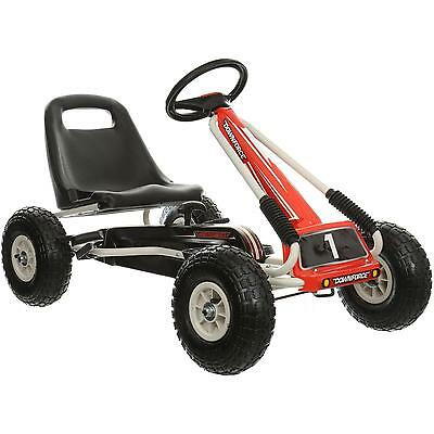 Downforce Go Kart 5 + Years Red Black And White