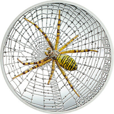 Cook Islands 2016 5$ Wasp Spider Magnificent Life 2016 1oz Proof Silver Coin