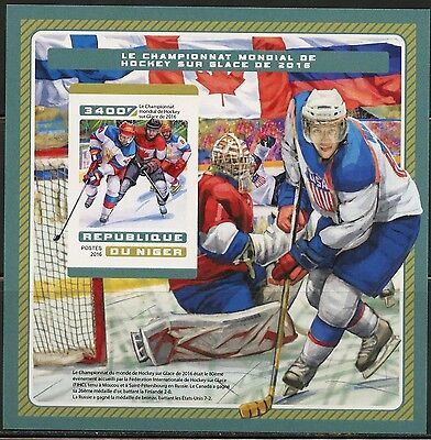 Niger  2016 Ice Hockey Championship 2016 Imperforate  Souvenir Sheet Mint Nh