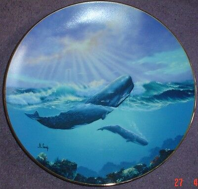 W S George Fine China Collectors Plate MONARCH OF THE DEEP Whale