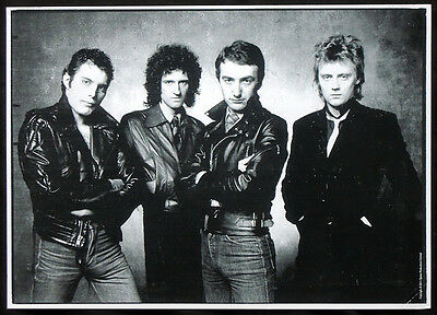 Queen Official Photo Print Poster . Freddie Mercury Brian May Roger Taylor