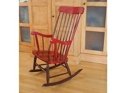 schaukelstuhl holz rocking chair sessel 1970er. Black Bedroom Furniture Sets. Home Design Ideas