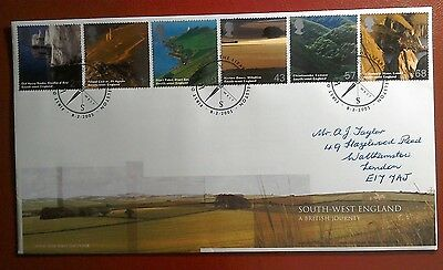 2005 Handwritten Royal Mail Fdc - South-West England Stamps - The Lizard