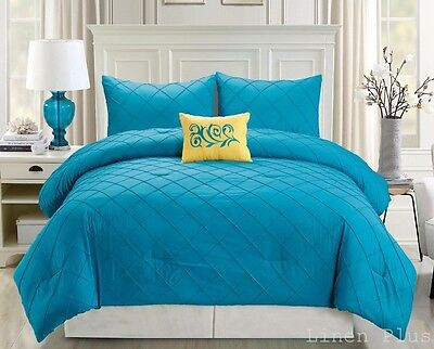Turquoise Yellow Comforter Set King Size 4 Piece ONLY At Linen Plus