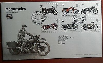 2005 Superb Royal Mail Fdc - Motorcycles Stamps - Edinburgh